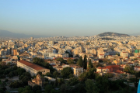 View of Athens with mountains
