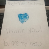 """Thank you for all you do! We appreciate all of the Nurses for their courage and endless dedication. My son Noah wanted to send this picture as a thank you."" -Ignacio Vallin"