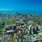 aerial view of Buffalo, New York.