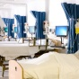 Hospital beds with manikins.