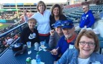 SON alumni at a Bisons baseball game.
