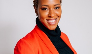 Children holding thank you signs.