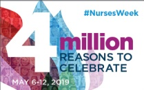 Text overlay that reads 4 Million reasons to celebrate, May 6-12, 2019.