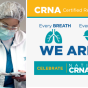 "CRNA week graphic that reads, ""Every breath. Every beat. Every second. We are there. Celebrate National CRNA Week. January 20-26, 2019.""."