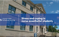 Jordan Nigro, DNP '18, CRNA, and Aaron Acello, DNP '18, CRNA, share the results of their research conducted at UB SON.